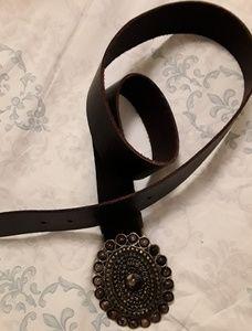 "Leather Belt - Womens Size 36"""